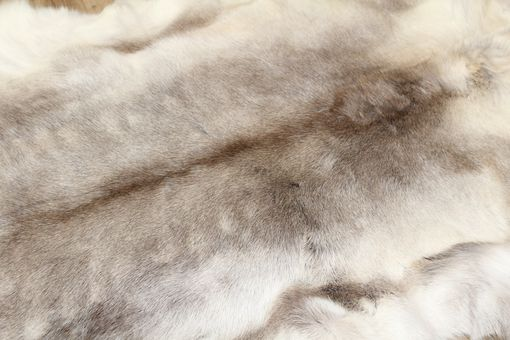 Custom Made Genuine Reindeer Hide White/Beige