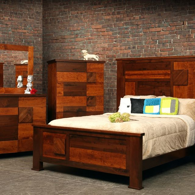 Hand Crafted Arial Fields Modern Walnut Cherry Bedroom Set Bed Classy Interior Design Of Bedrooms Set Painting