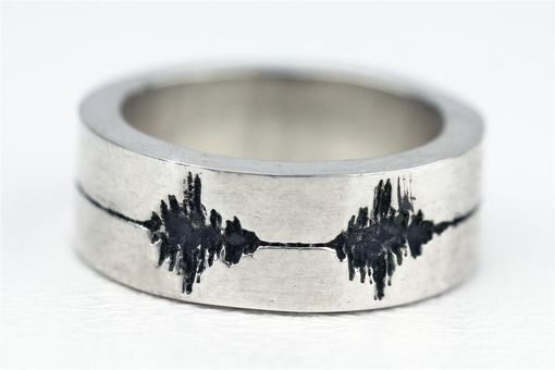 Custom Made Sound Wave Ring Dog Barking Pet Jewelry