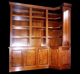 Custom Made Cherry Hardwood Library Unit