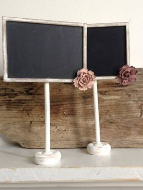 Custom Made Rustic Wedding Chalkboard Seating Cards