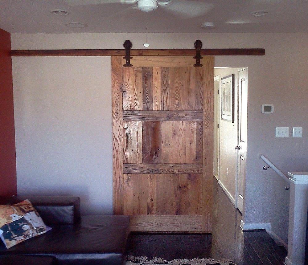 Buy A Custom Reclaimed Wood Sliding Barn Door With Vintage Hardware