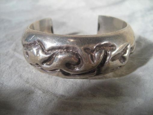 Custom Made Hollow Form Sterling Silver Cuff