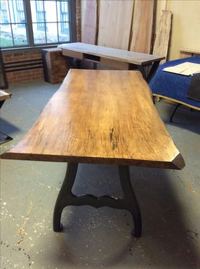 Custom Made Live Edge Slab Tables, Custom Built, Metal And Wood Leg Options, Up To 8 Feet Long