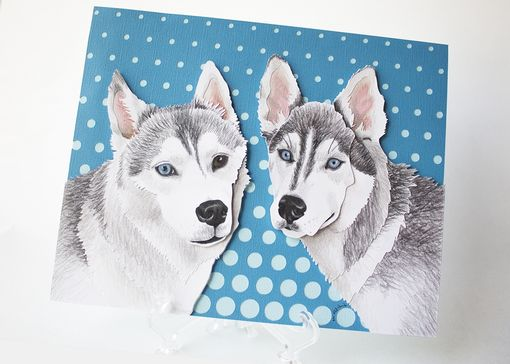 Custom Made Paper Pet Portraits