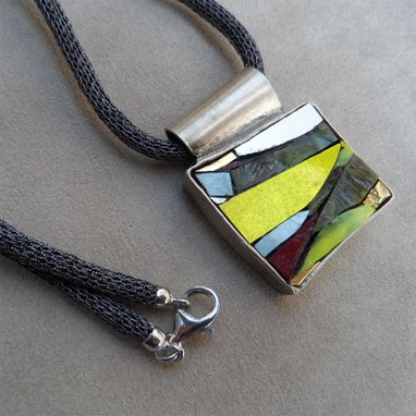 Custom Made Italian Modern Fashion Necklace. 'Vibrazioni #13'