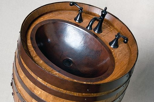Custom Made Wine Barrel Vanity