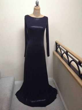 Custom Made Black Shinny Prom Dress