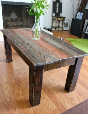 hand crafted barnwood coffee tableross alan reclaimed