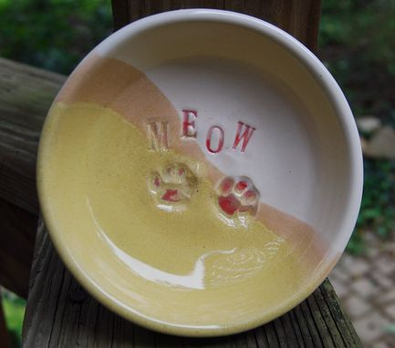 Custom Made Cat Water And Food Bowl Feeding Set  Custom Made