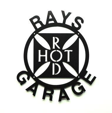 Custom Made Personalized Hot Rod Garage Metal Art Sign
