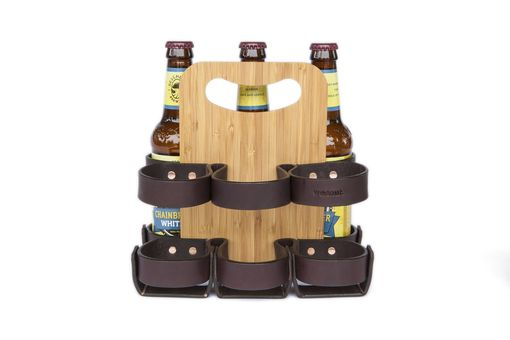 Custom Made Leather Beer Carriers