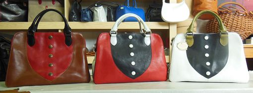 Custom Made Stylish Italian Leather Handbag, Roomy And Colorful. Original Bag, Made In Italy