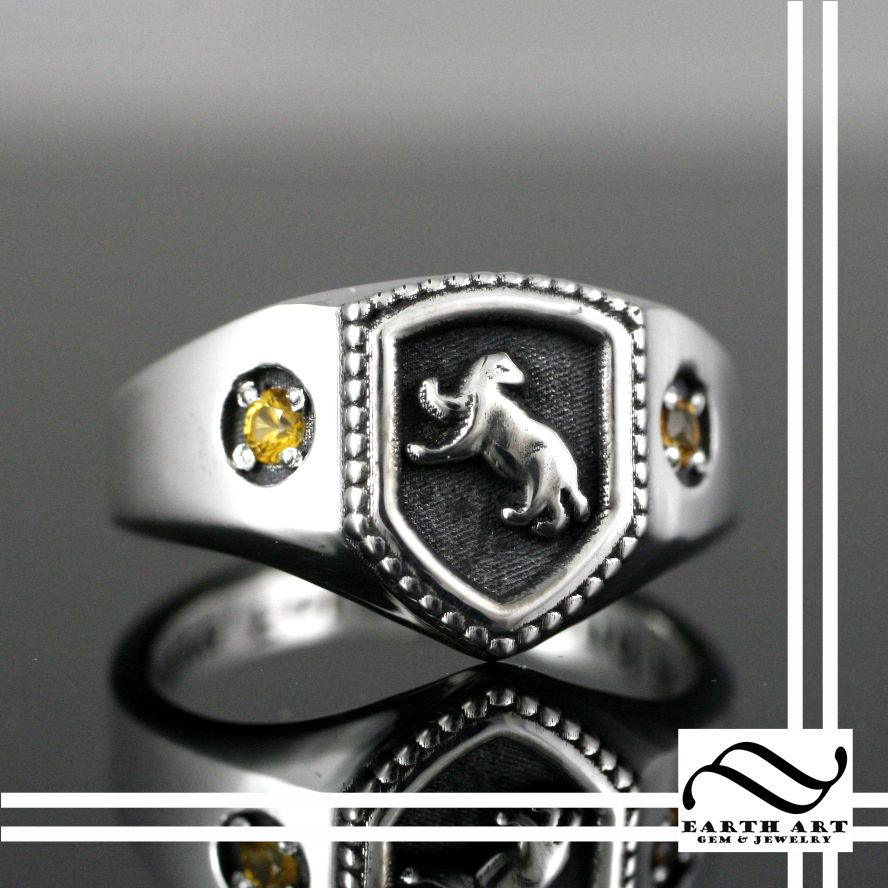 Hufflepuff House Ring, Harry Potter Inspired