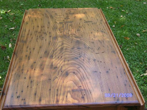 Custom Made Wormy Chestnut Drop Leaf Table