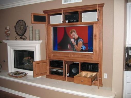 Custom Made Custom White Maple Home Theater