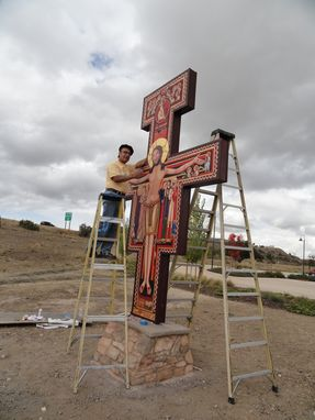 Custom Made San Damiano Cross At San Miguel Mission, Ca