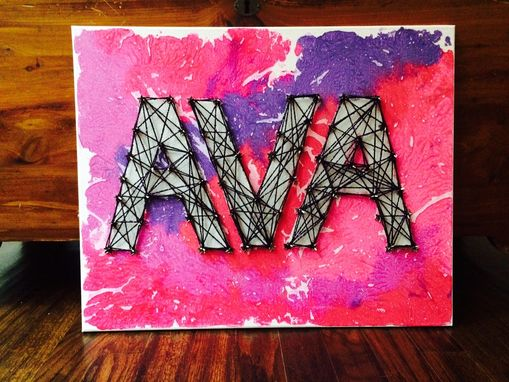 Custom Made Custom/Personalized Painted, Melted, Threaded Art! 3-7 Letters.