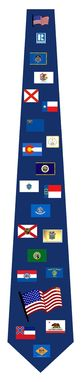 Custom Made State Flags Ties
