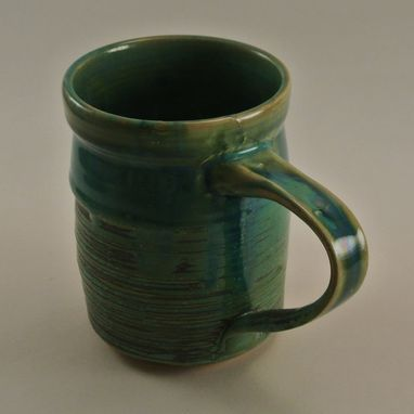 Custom Made Green And Ash Coffee Mug