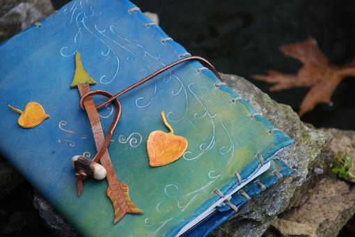 Custom Made Aspen Leaves And Wind Journal Cover