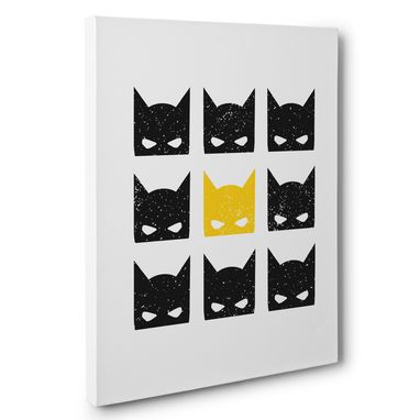 Custom Made Superhero Mask Silhouettes Canvas Wall Art