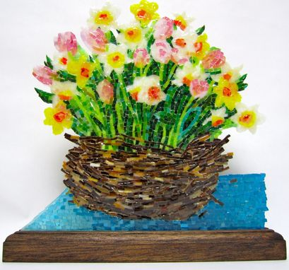Custom Made Basket Of Daisies