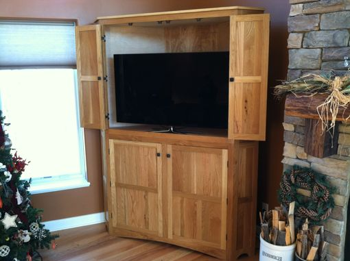 Custom Made Corner Tv Media Cabinet