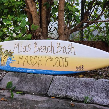 Custom Made Surfboard Wedding Sign