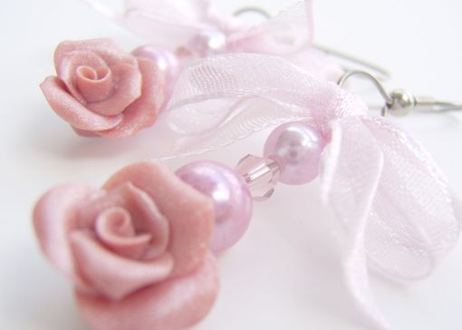 Custom Made Mother's Day Bracelet And Earrings Combo- Hand-Crafted In Polymer Clay