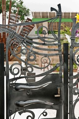 Custom Made Bywater Art Loft Sculpture Garden Gates