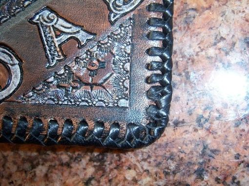 Custom Made Wallet For A Dad With Custom Indigenous Or Native American Style Patterns