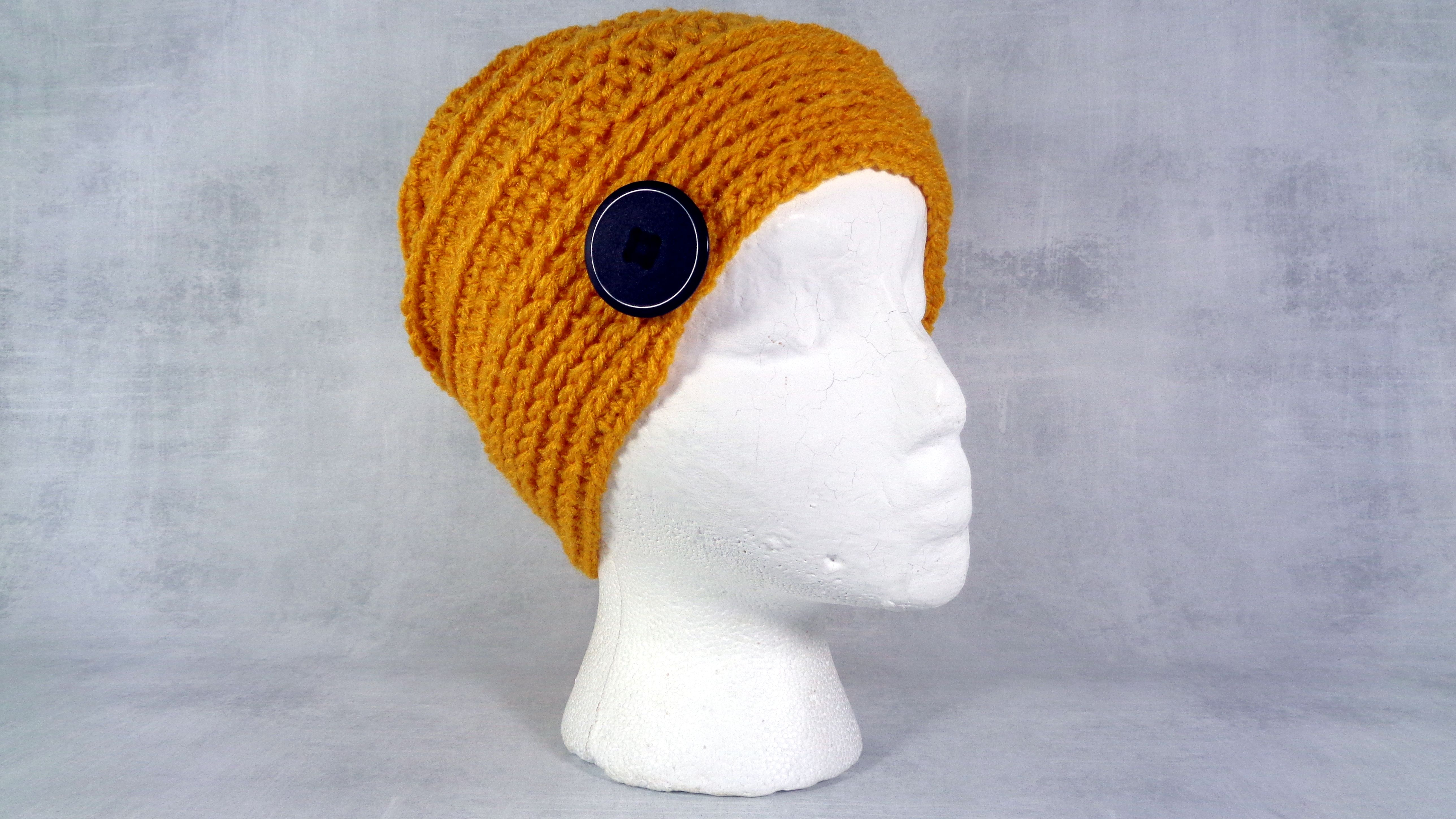 ec5316167 Buy a Hand Made Gold Dark Yellow Winter Or Summer Slouchy Beanie Hat ...