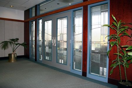 Handmade Stained Glass Conference Room Doors By Chuck