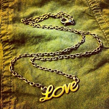 Custom Made Bronze Love Necklace