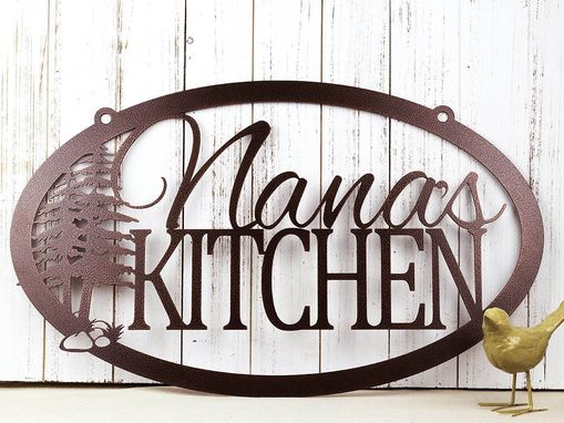 Buy a Hand Made Custom Metal Sign | Kitchen Sign | Name ...