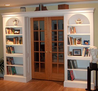 Custom Made Arched Bookcases