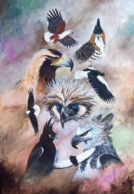Custom Made Painting - Eagles