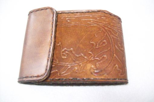 Custom Made Custom Leather Trifold Checkbook Cover