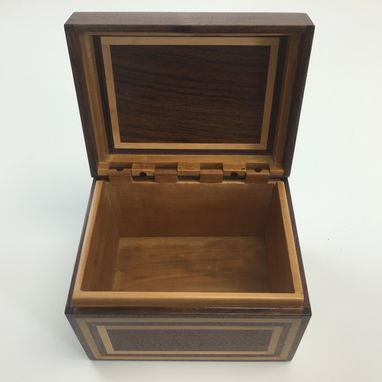 Custom Made Black Walnut And Bradford Pear Recipe Box