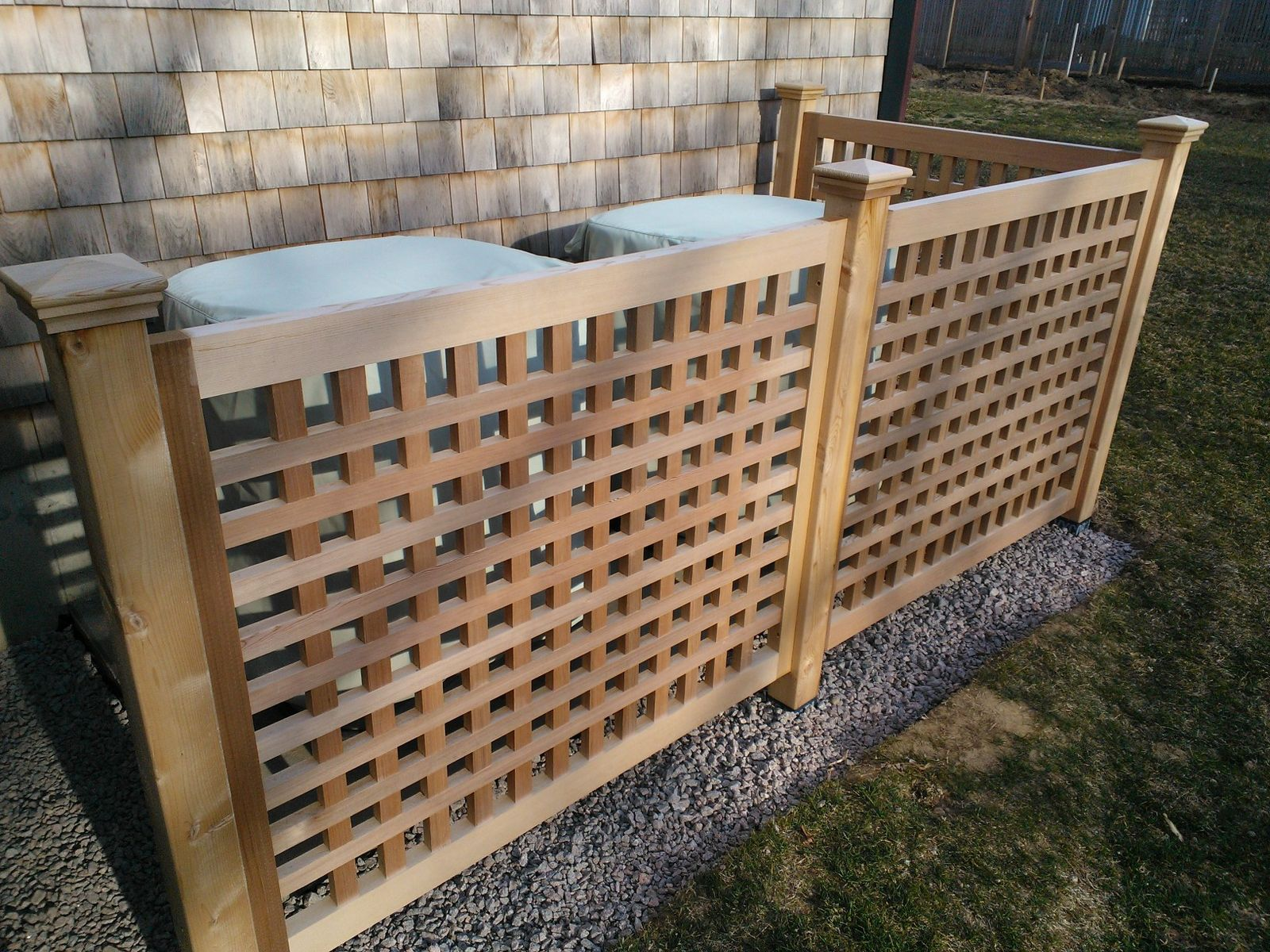 Hand made red cedar screen panels by tradecraft custom woodworking custom made red cedar screen panels baanklon Gallery