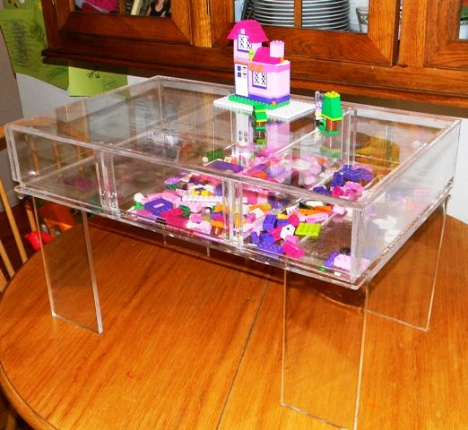 Custom Made Acrylic Craft Lego Table Floor Size Model For Young Kids Hand