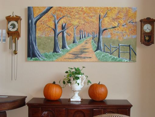 Custom Made Autumn Forest, 6 Ft X 3 Ft