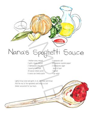Custom Made Illustrated Recipes!