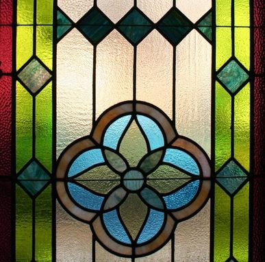 Custom Made Textured Stained Glass Panel
