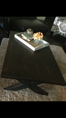 Custom Made X Base Coffee Table