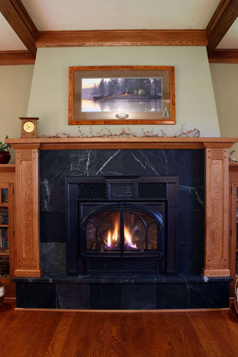 Inside Wood Storage Fireplaces