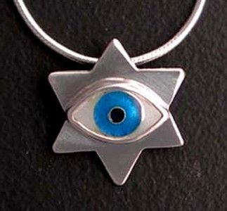 Custom Made Evil Eye Jewish Star