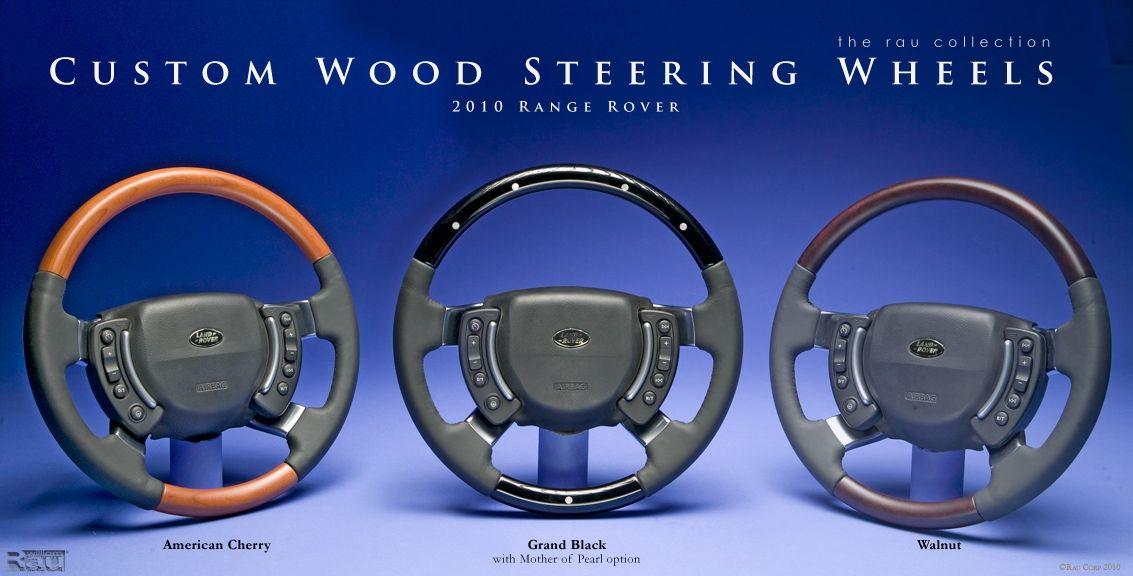 Hand Made Custom Wood Steering Wheels For Range Rover