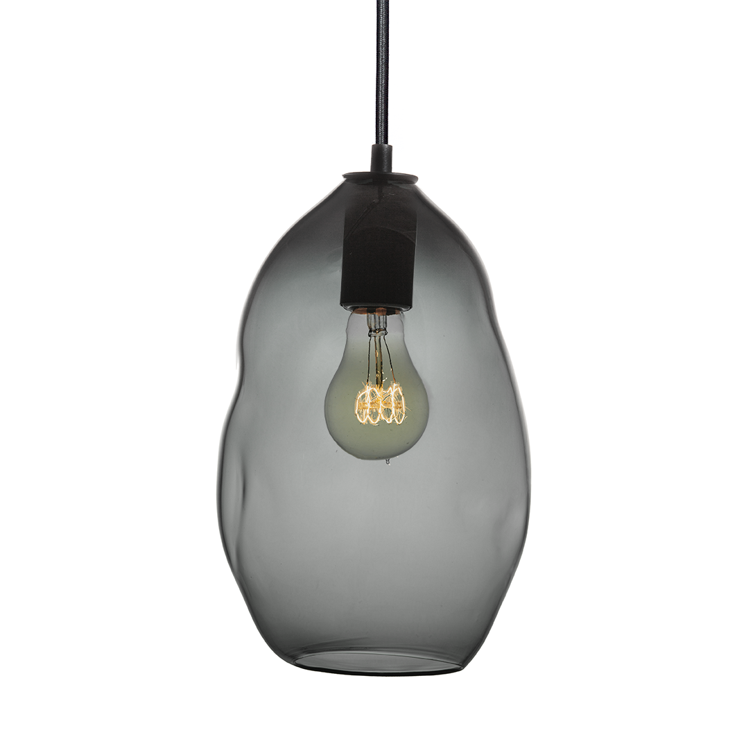 Buy A Hand Made Bubble Smoke Hand Blown Glass Pendant Light Made To Order From Hammers And